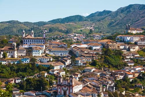 Cidade de Ouro Preto, em Minas Gerais
