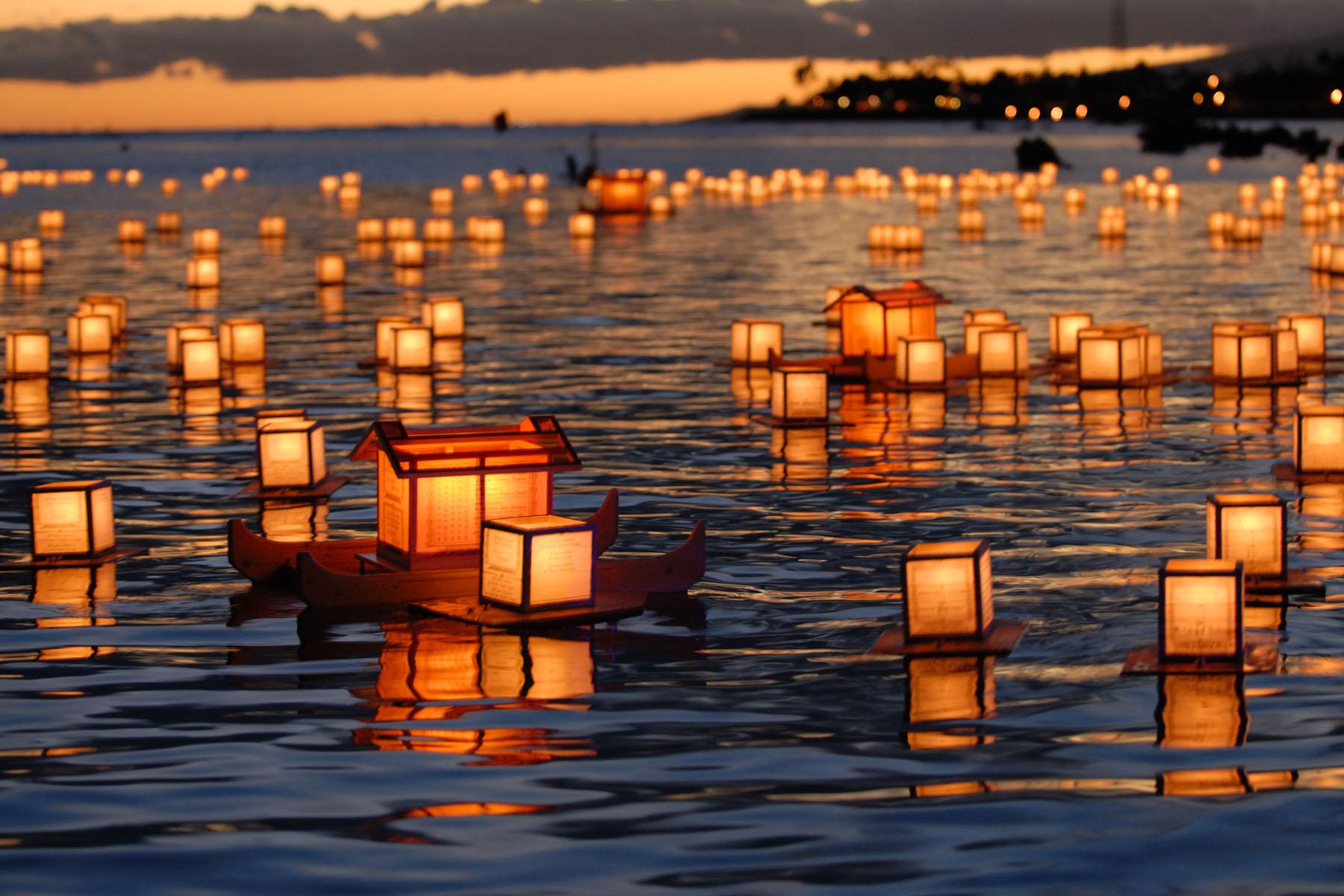 lanternas flutuantes