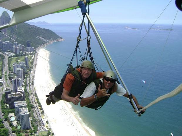 De asa-delta no Rio de Janeiro (foto: Arquivo pessoal/Bill Passmen)