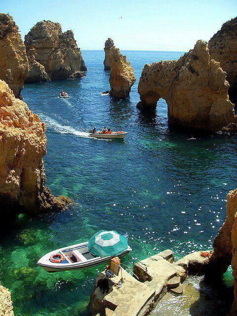 Algumas das mais impressionantes paisagens pelo mundo! Algarve Coast, Portugal