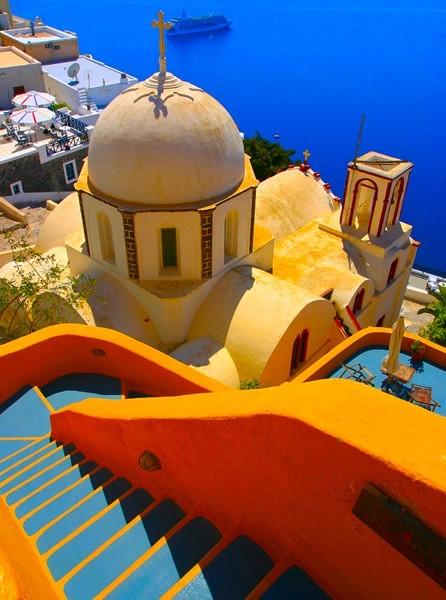 Algumas das mais impressionantes paisagens pelo mundo! Santorini