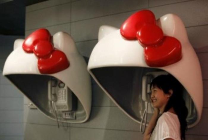 Alô Quer ver os diferentes telefones públicos pelo mundo Japão 2