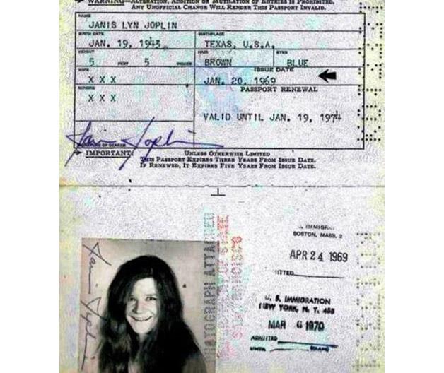 Todo mundo tem que ter passaporte, até os famosos! - Joplin