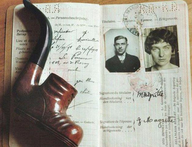 Todo mundo tem que ter passaporte, até os famosos! - Magritte
