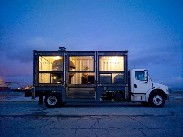 Um caminhão que vende pizza em São Francisco! 3