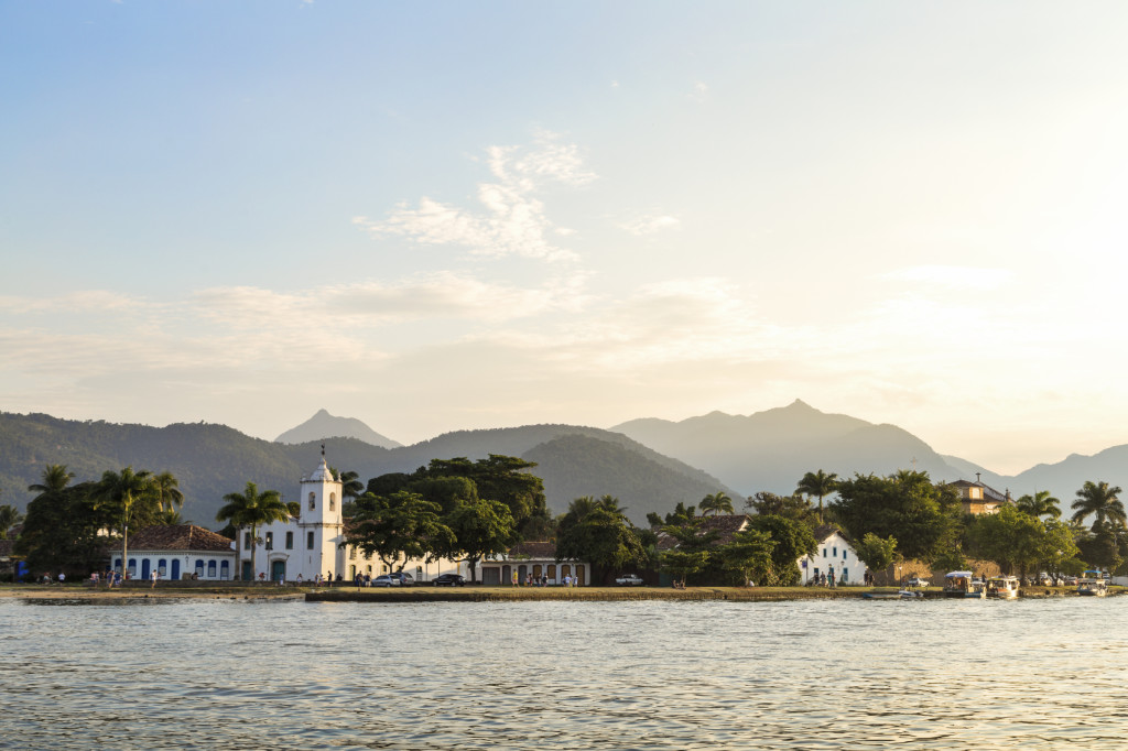 Colonial houses of Paraty. Paraty is a preserved Portuguese colonial and Brazilian Imperial municipality of Rio de Janeiro State.