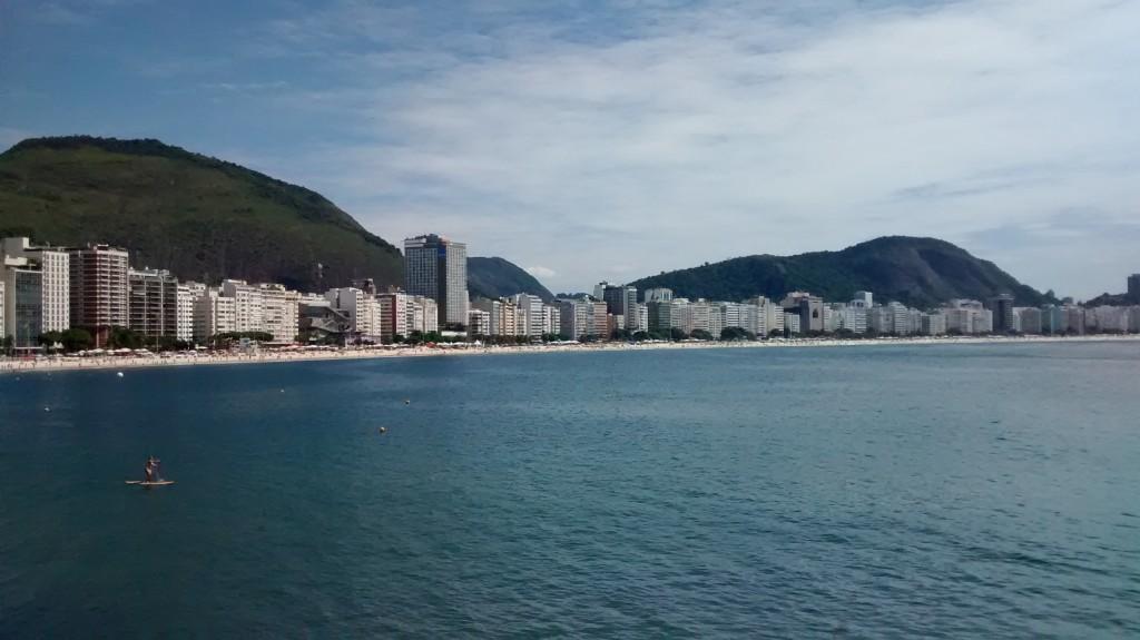 Vista de quem está no Forte de Copacabana - Foto: @rebeccaalbino