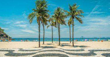 Foto da praia de Copacabana